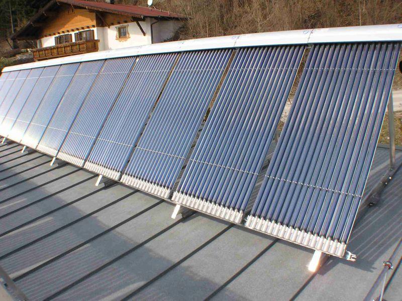 Vacuum tube solar panels