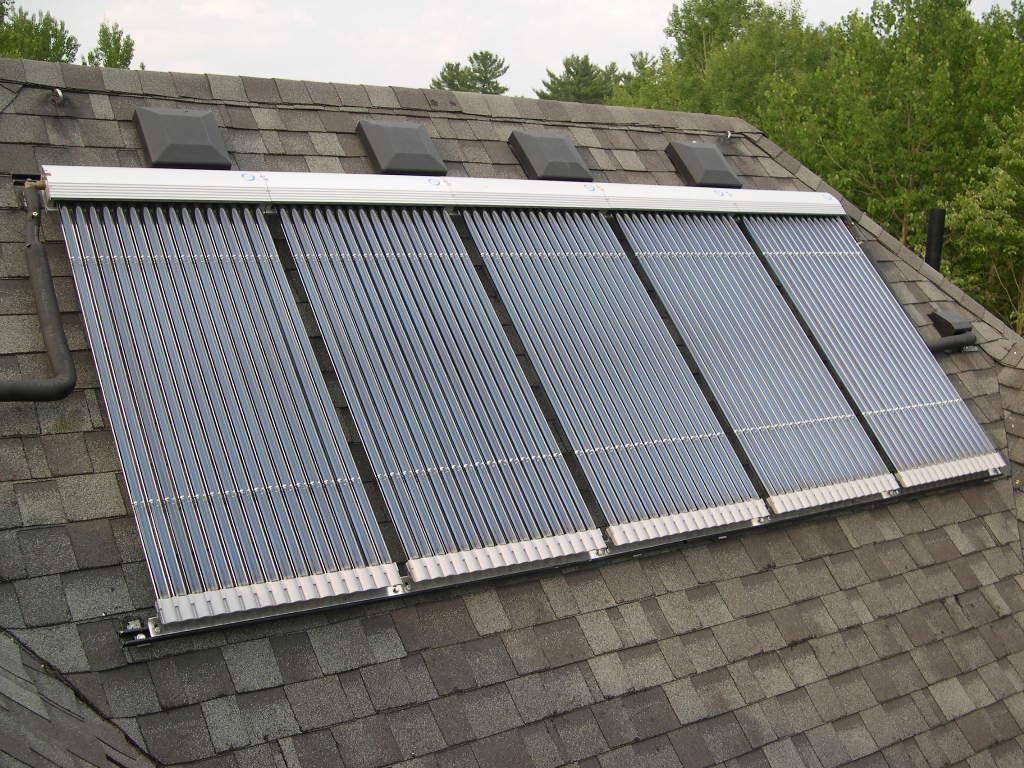 Vacuum tube solar collectors, Kinmount