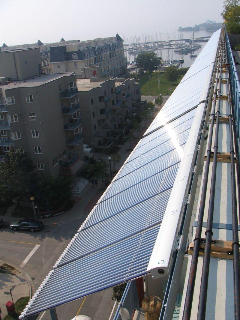 Vacuum tube solar panels in Toronto