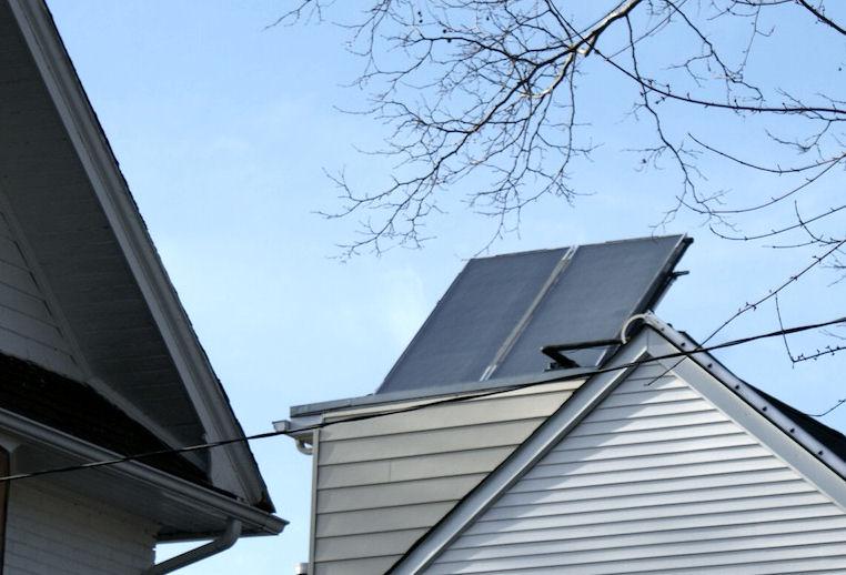Solar panels on Eaton Ave., Toronto