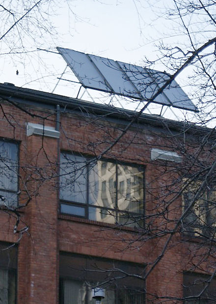 Solar thermal panels on roof of St. Mike's Choir School