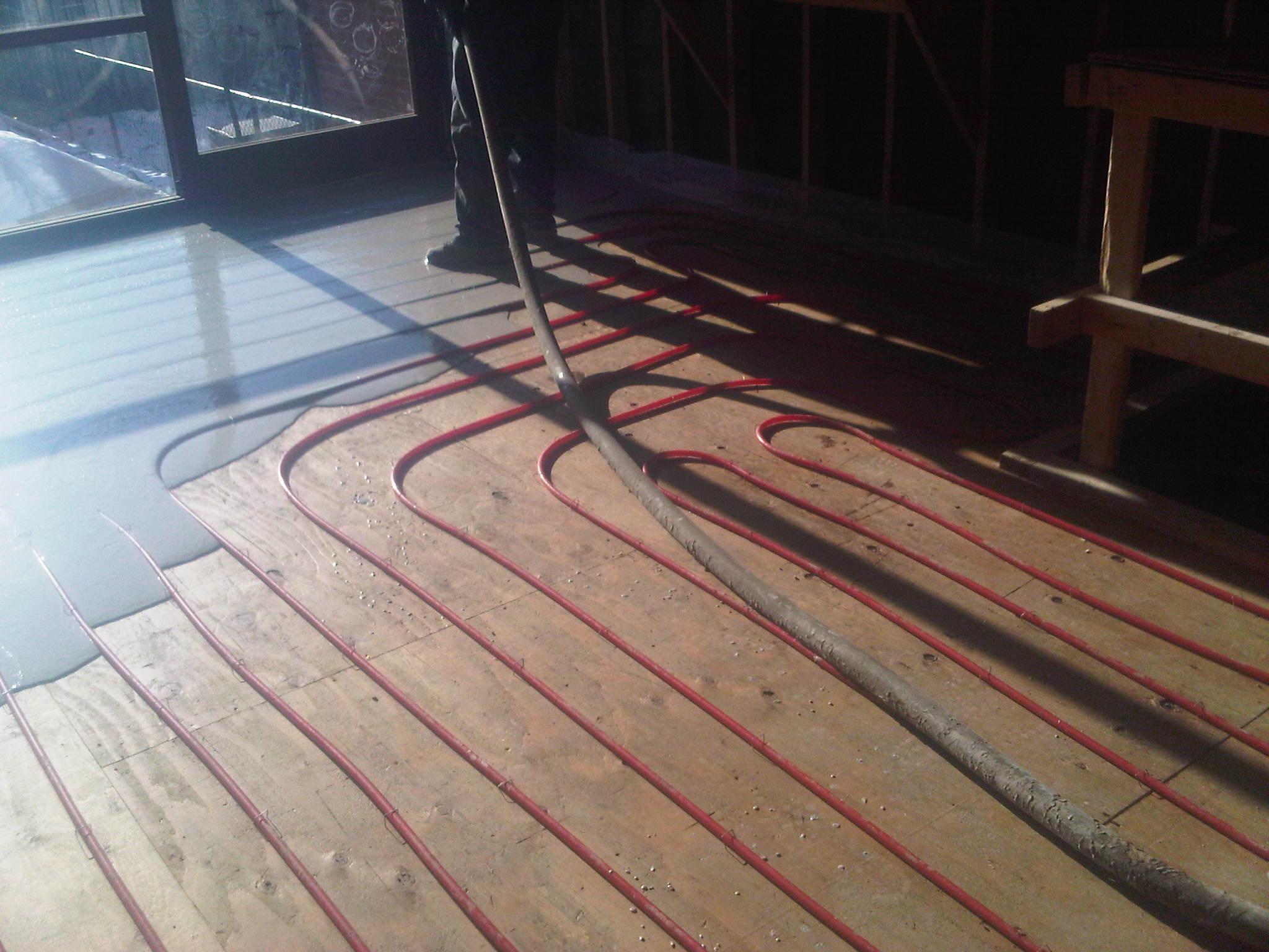 Concrete floor over wood gurus floor for Wood floor over concrete